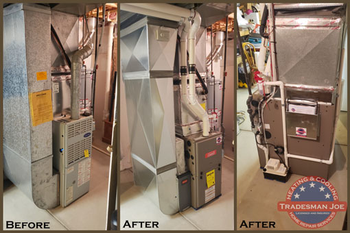 Furnace installation before and after
